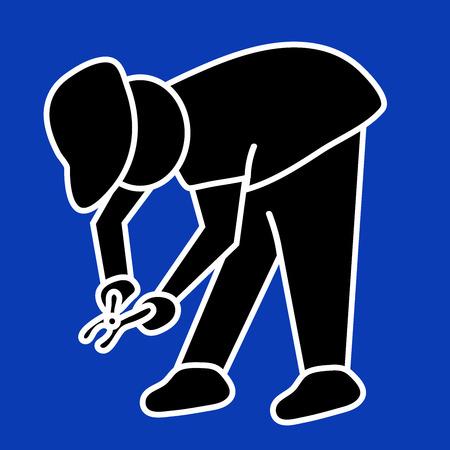 builder at work sign. stock vector illustration