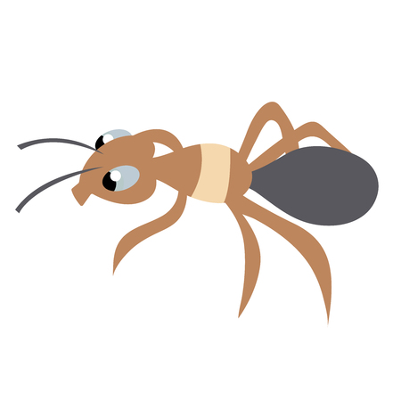 cute ant. isolated image. stock vector illustration