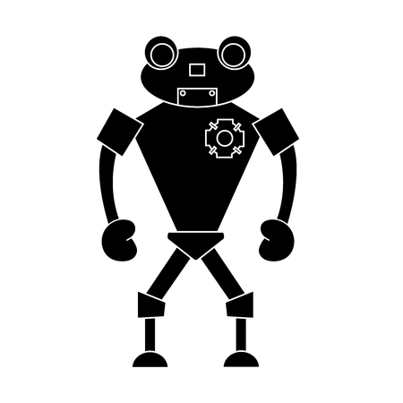 Robot simple character. Isolated stock vector illustration Illustration