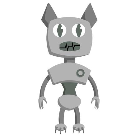 Bat shape robot. Isolated flat stock vector illustration