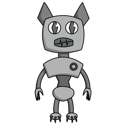 Bat shape robot. Isolated cartoon stock vector illustration Illustration