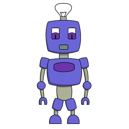 Cute toy robot. Isolated stock vector illustration