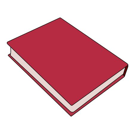 red book cartoon image. Isolated stock vector illustration