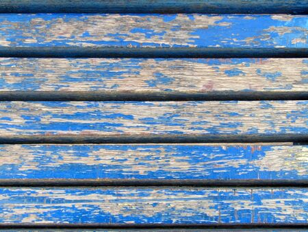 wooden boards with peeling blue paint. stock texture foto