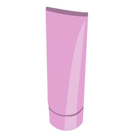 pink realistic tube. isolated stock vector illustration Illustration