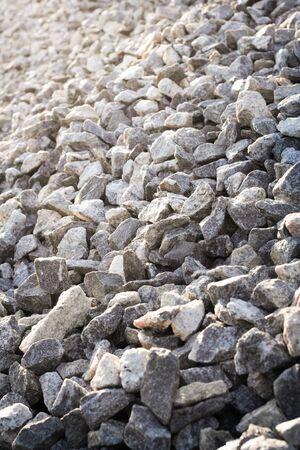 Closeup of pile of gravel