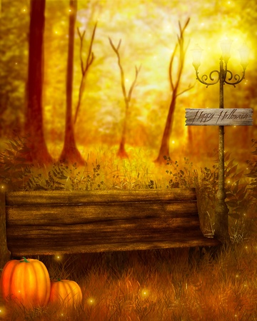 tricks: halloween card Stock Photo