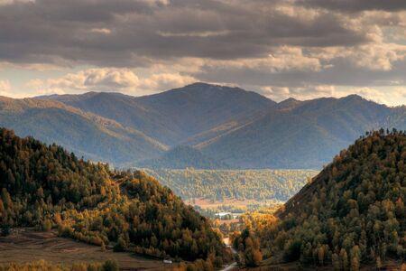 chemal: Chemal Mountains Stock Photo