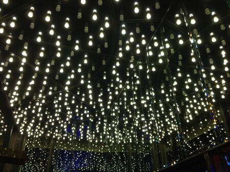 bright: Small lights like the stars in the sky that makes the heavens bright.