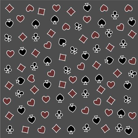 The Seamless Pattern Made Out Of Casino Symbols Heart Diamond