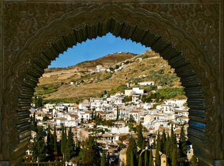 View of Granada taken from the Alhambra,Andalucia, Spain Editorial