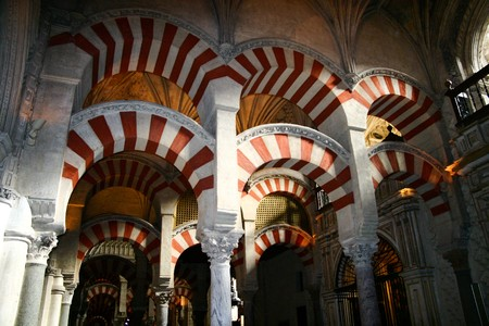 The arches of the Mezquita, Cordoba, Andalucia, Spain Stock Photo