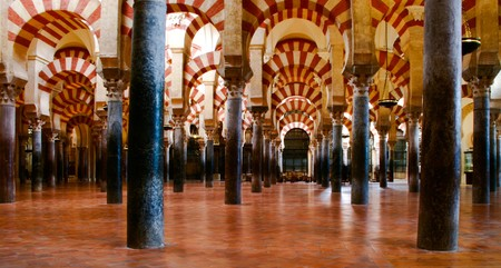 andalucia: The arches of the Mezquita, Cordoba, Andalucia, Spain Stock Photo