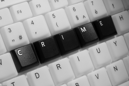 Crime on computer keyboard