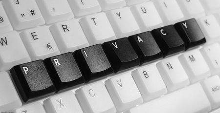 Privacy on computer keyboard