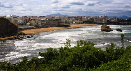 The beach of Biarritz, France