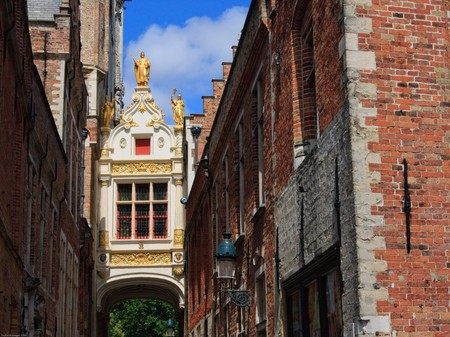Covered passage in Bruges