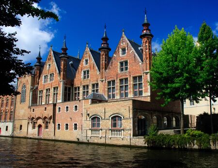 Belgian Canal Houses in Bruges