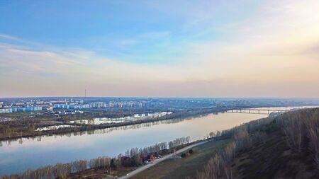 river from a bird's-eye view 免版税图像