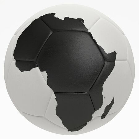 soccer wm: photorealistic soccer ball with africa shape