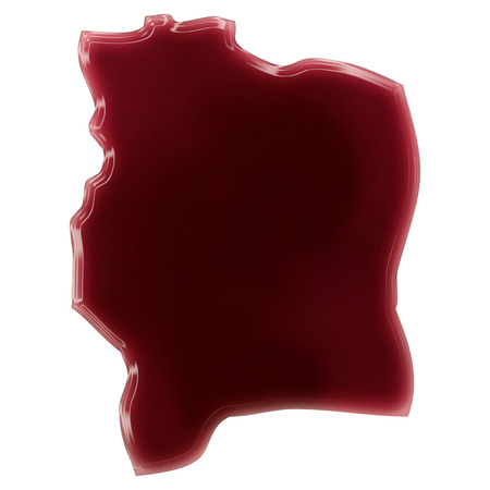 Pool of blood (or wine) that formed the shape of Cote dIvoire. (series)