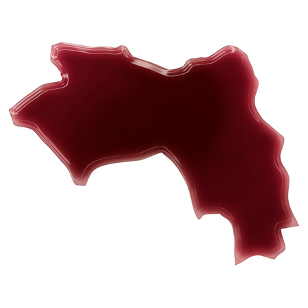 Pool of blood (or wine) that formed the shape of Guinea. (series) photo