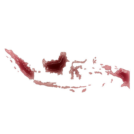 Pool of blood (or wine) that formed the shape of Indonesia. (series)