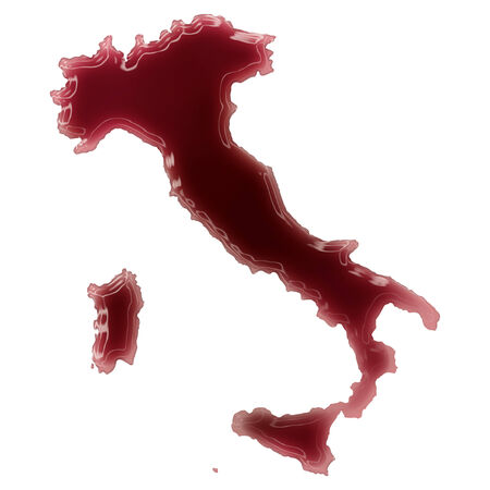 Pool of blood (or wine) that formed the shape of Italy. (series) Stock Photo