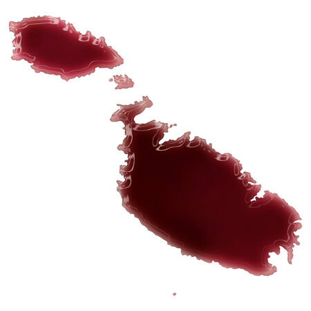 Pool of blood (or wine) that formed the shape of Malta. (series) photo
