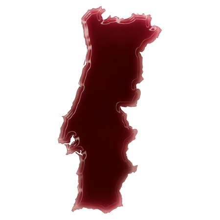 Pool of blood (or wine) that formed the shape of Portugal. (series)