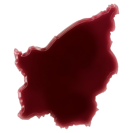 Pool of blood (or wine) that formed the shape of San Marino. (series) photo