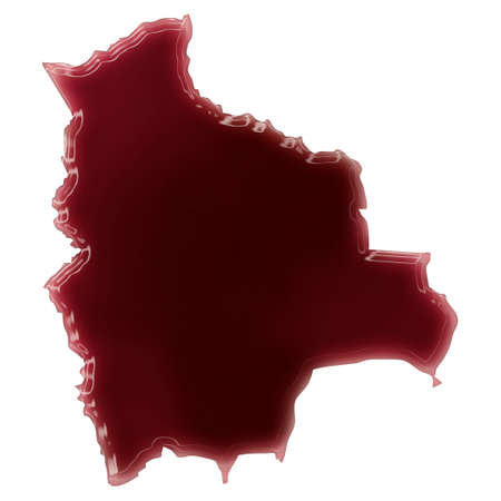Pool of blood (or wine) that formed the shape of Bolivia. (series)