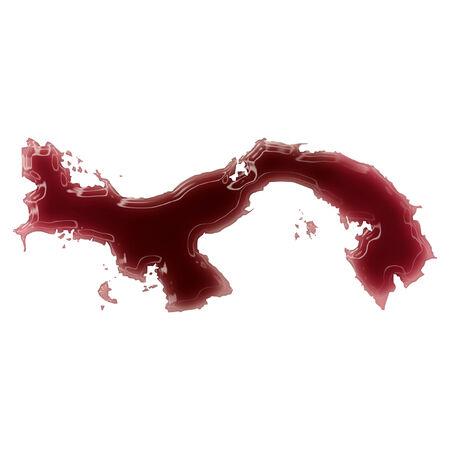 bandera de panama: Charco de sangre (o vino) que se form� la forma de Panam�. (Series) Foto de archivo