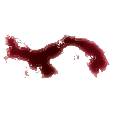 panama flag: Pool of blood (or wine) that formed the shape of Panama. (series) Stock Photo