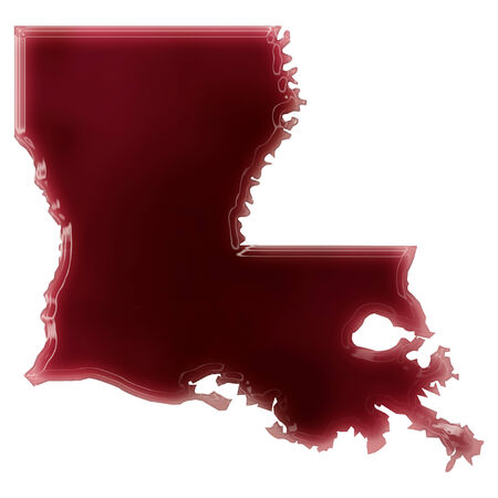 Pool of blood (or wine) that formed the shape of Louisiana. (series) photo