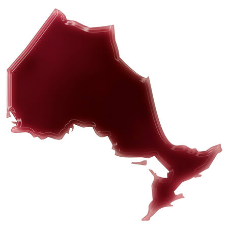 Pool of blood (or wine) that formed the shape of Ontario. (series) photo