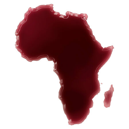 Pool of blood (or wine) that formed the shape of Africa. (series) photo