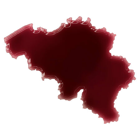 Pool of blood (or wine) that formed the shape of Belgium. (series) Stock Photo