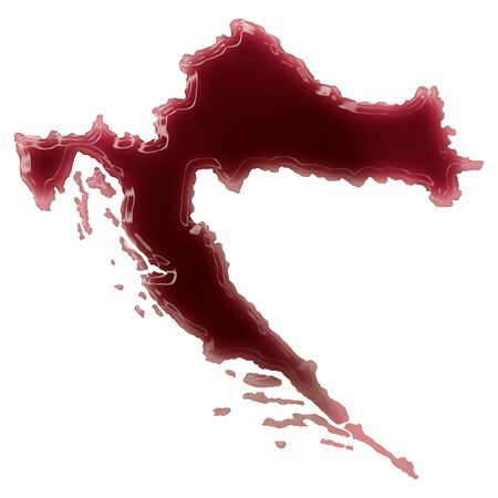 Pool of blood (or wine) that formed the shape of Croatia. (series) photo