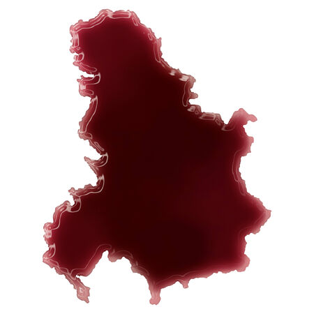 Pool of blood (or wine) that formed the shape of Serbia Montenegro. (series)