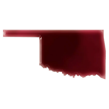 Pool of blood (or wine) that formed the shape of Oklahoma. (series)