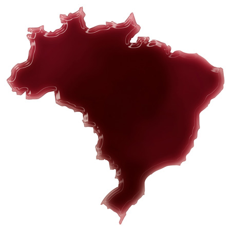 Pool of blood (or wine) that formed the shape of Brazil. (series) photo