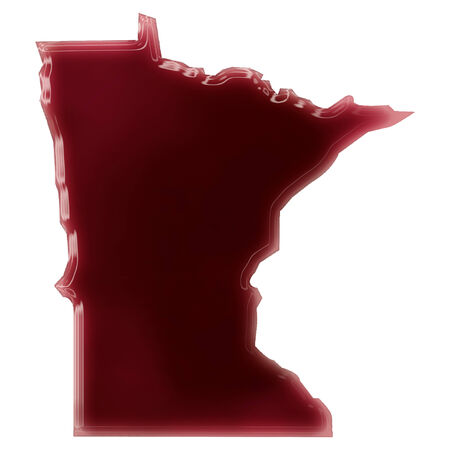 Pool of blood (or wine) that formed the shape of Minnesota. (series) photo