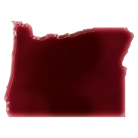 Pool of blood (or wine) that formed the shape of Oregon. (series) photo