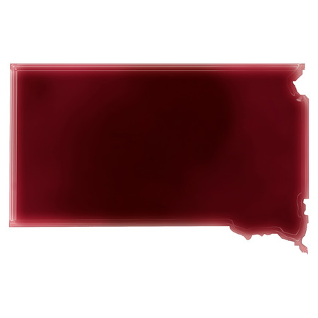 Pool of blood (or wine) that formed the shape of South Dakota. (series)