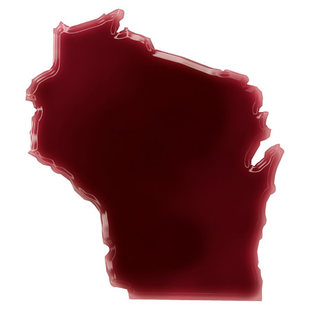 Pool of blood (or wine) that formed the shape of Wisconsin. (series) photo