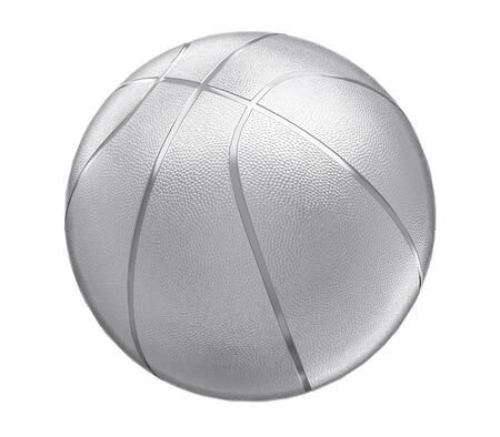 A silver basketball isolated on white