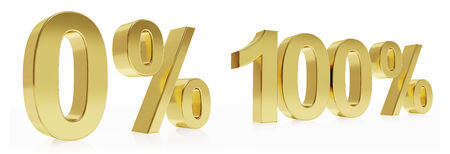 deduction: Very high quality photo realistic rendering of a symbol for % discounts. Stock Photo