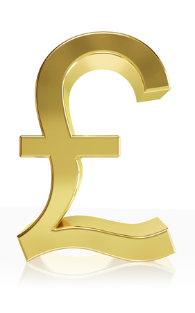 currency symbol: Very high quality rendering of the currency symbol pound Stock Photo