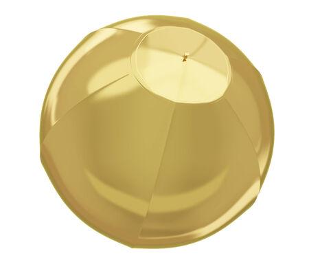 beachball: A photo realistic golden beachball isolated on white  Stock Photo